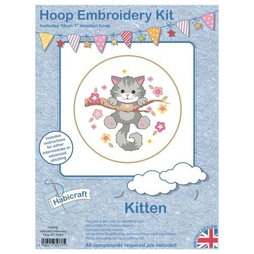 Habicraft Hoop Embroidery Kit Kitten (HHK006)