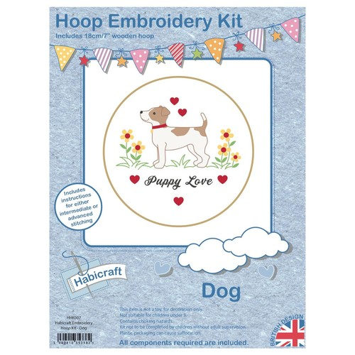 Habicraft Hoop Embroidery Kit Dog (HHK007)