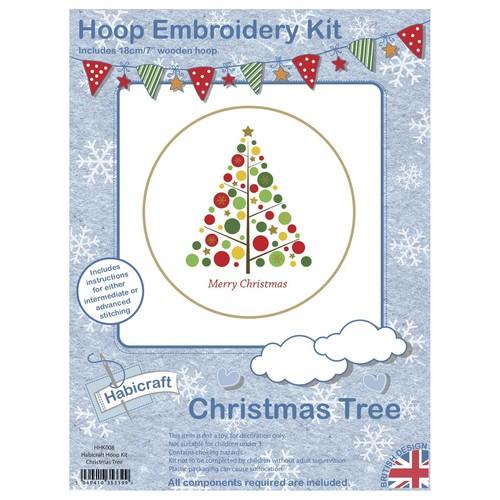 Habicraft Hoop Embroidery Kit Christmas Tree (HHK008)