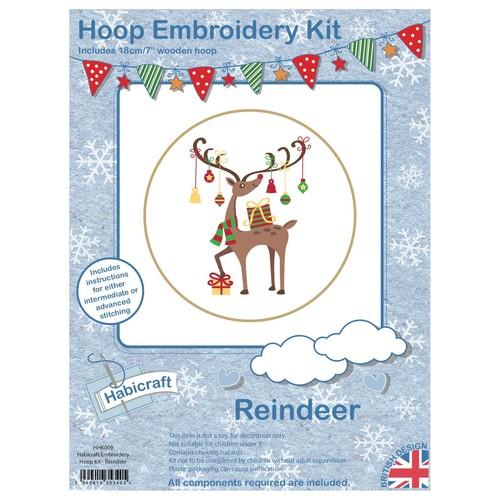 Habicraft Hoop Embroidery Kit Reindeer (HHK009)
