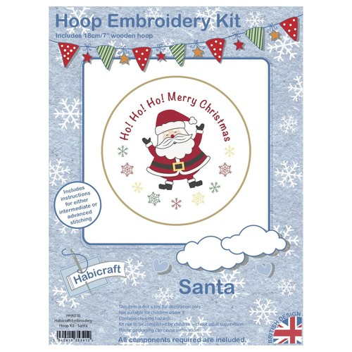 Habicraft Hoop Embroidery Kit Santa (HHK010)