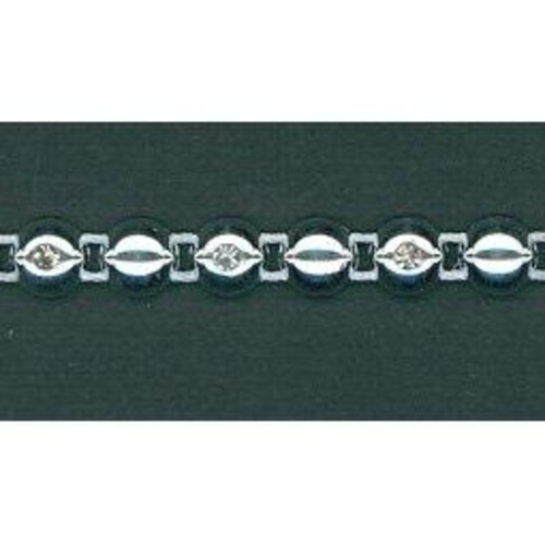 6mm Diamante Trim 5m (HK0819)(White)