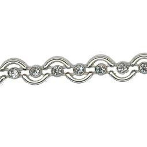 10mm Diamante Trim 5m (HK0820)(Silver)