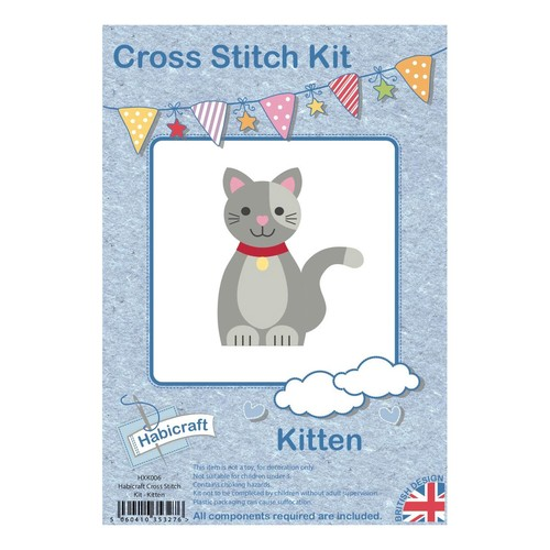 Habicraft Cross Stitch Kit Kitten (HXK006)