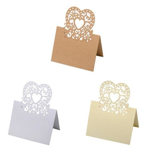 20mm Laser Cut Place Setting 80 x 1 (HY013) (White)