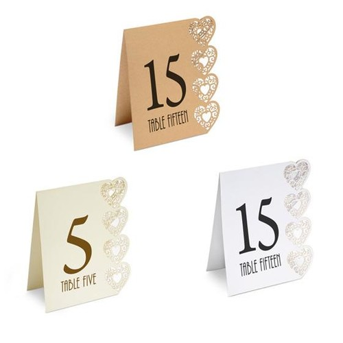 Laser Cut Table Numbers 125 x 155m (HY015)
