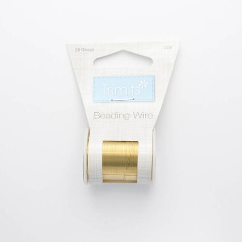 Beading Wire 28 Gauge Gold 24 Yard Spool (JEBW4)
