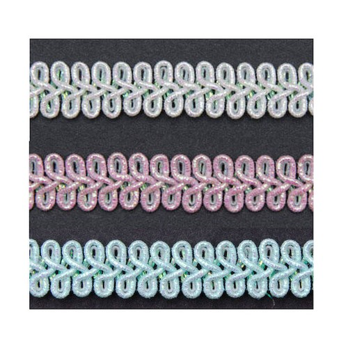 14mm x 25m Loop Braid Iridescent (JT1AB)(Pastel Pink)