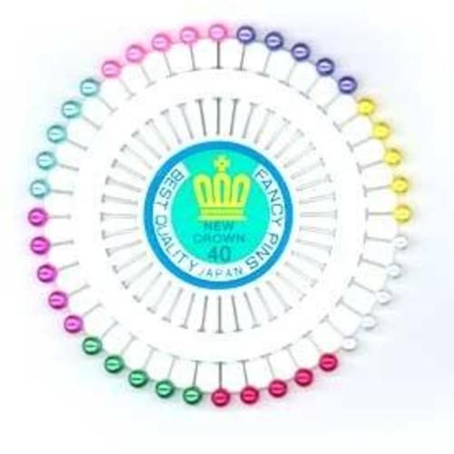 Pin Wheel Pearl Assorted 40 Piece (JTL050)