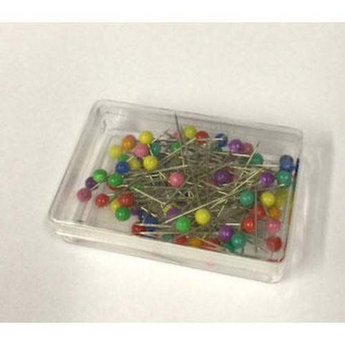 COLOUR HEADED PINS 80 PIECE BOX x 20 (JTL055)