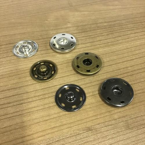 25mm (JTL070) - Snap Fasteners (Bright Gold)