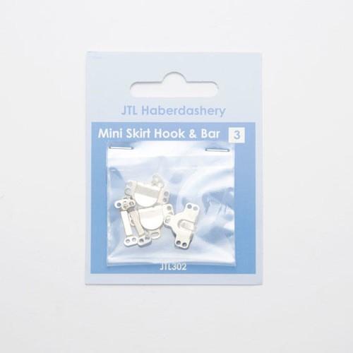 Mini Skirt Hook & Bar Silver 3 Set (JTL302)