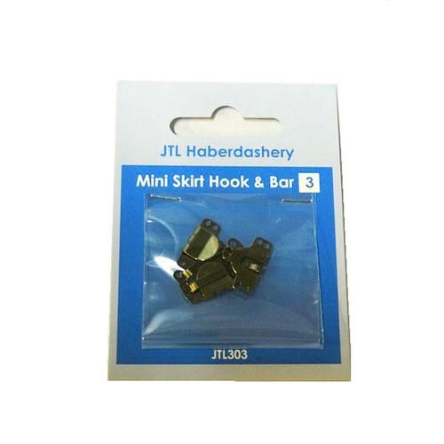 Mini Skirt Hook & Bar Black 3 Set (JTL303)