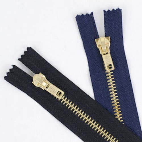 Brass Jeans 10cm (4 Inch) Zip Fasteners (JZ4)(Navy)
