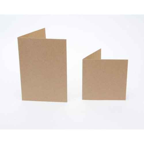 (KCE-SQ8) Kraft Cards with Envelopes - 8 Inch Square (25pk)