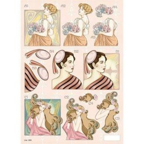 Art Deco 3D Decoupage (LINE1005)