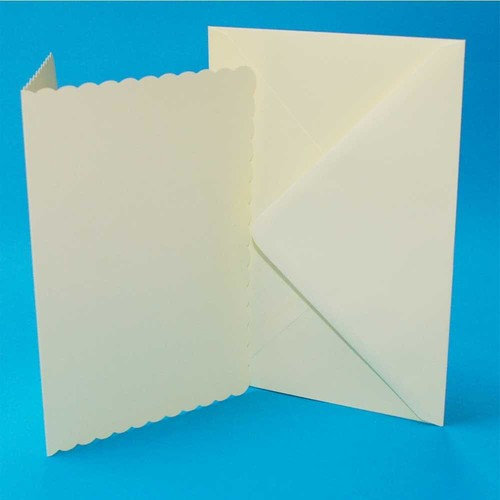 Cards & Envelopes C6 Ivory Scalloped 50 Pack (LINE1009)