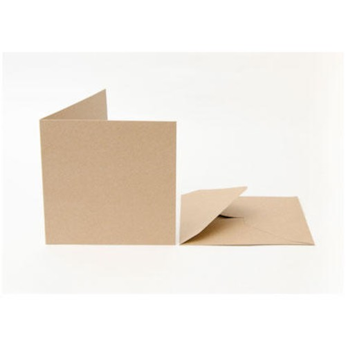 50 x Cards & Envelopes 6 x 6 Recycled Kraft (LINE2047)