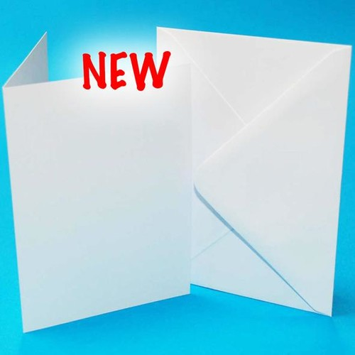 5 x Cards & Envelopes 10 x 7 Inch White 2(LINE2258)