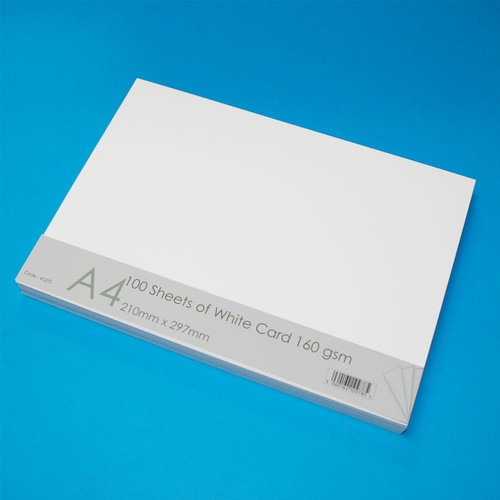 A4 Cards 100 Sheets White (LINE41273)