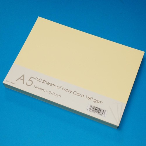 A5 Cards 100 Sheets Ivory (LINE41280)