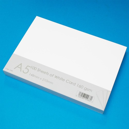A5 Cards 100 Sheets White (LINE41281)