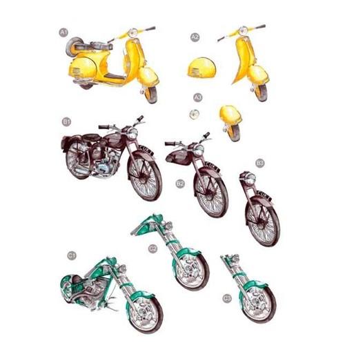 Die Cut Decoupage Motorbikes (LINE448)
