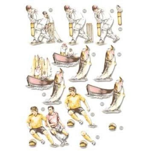 Die Cut Decoupage Line 540 Sports