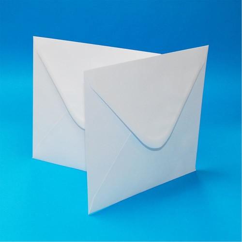 Envelopes 6 x 6 Inch White 50 Pack (LINE607)