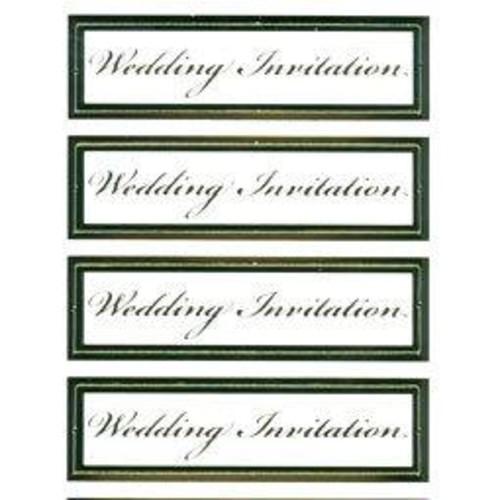 Captions Wedding Invitation Gold (LINE858)