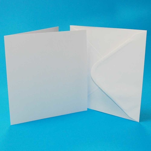 5 x Cards & Envelopes 8 x 8 Inch White 2(LINE863)