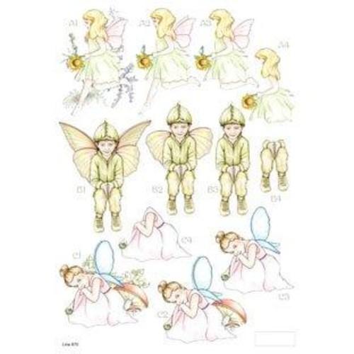 Die Cut Decoupage Forever Fairies 3 (LINE870)