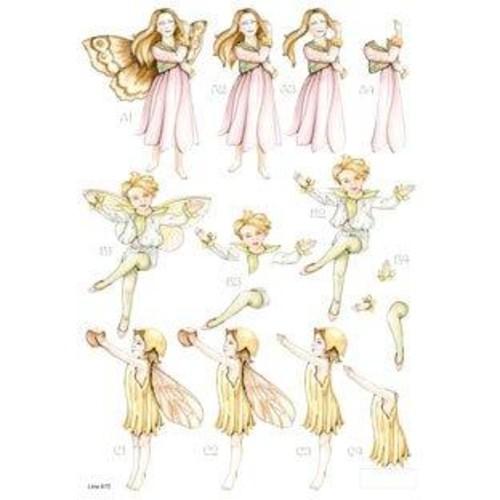 Die Cut Decoupage Forever Fairies 5 (LINE872)