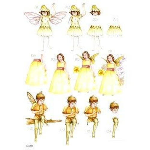 Die Cut Decoupage Forever Fairies 6 (LINE873)