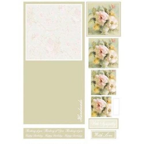 Die Cut Decoupage Floral Concept Cards 4 (LINE882)