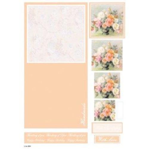 Die Cut Decoupage Floral Concept Cards 1 (LINE884)