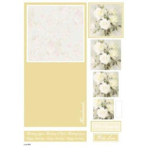 Die Cut Decoupage Floral Concept Cards 2 (LINE885)