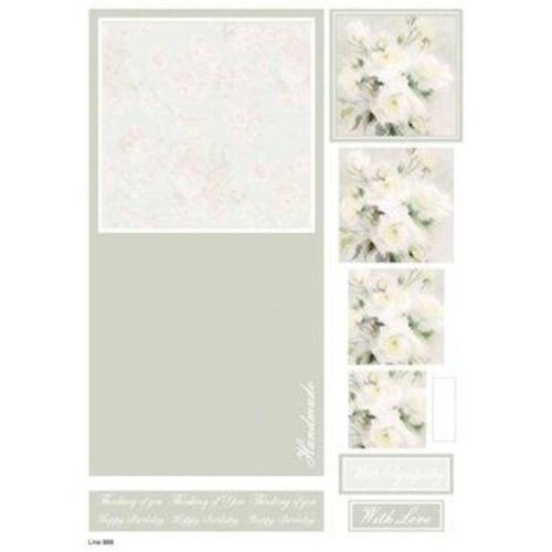 Die Cut Decoupage Floral Concept Cards 6 (LINE888)