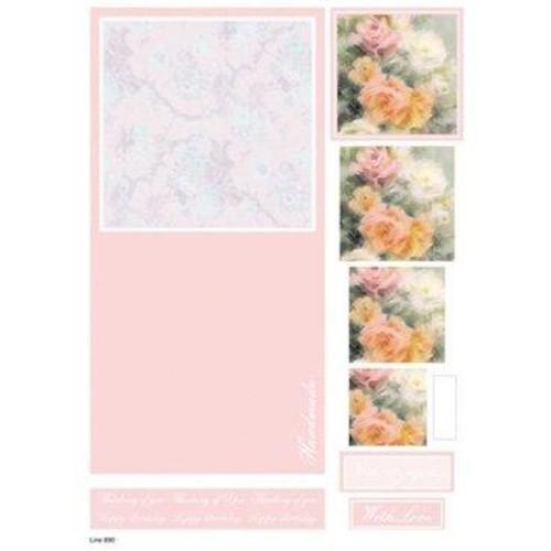 Die Cut Decoupage Floral Concept Cards 3 (LINE890)
