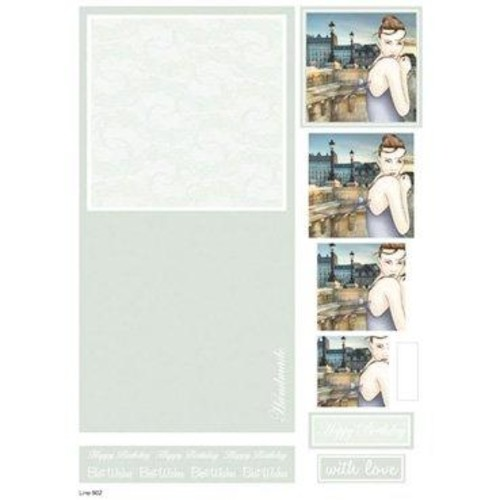 Die Cut Decoupage Female Concept Cards 1 (LINE902)