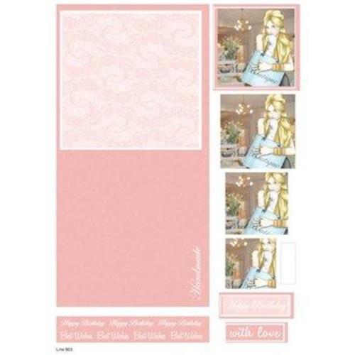 Die Cut Decoupage Female Concept Cards 2 (LINE903)