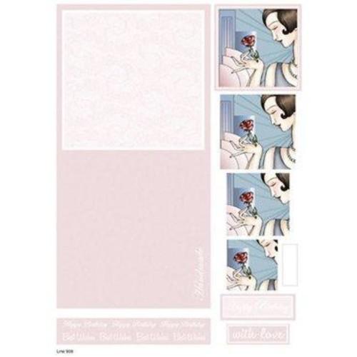 Die Cut Decoupage Female Concept Cards 3 (LINE908)