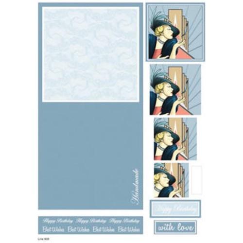 Die Cut Decoupage Female Concept Cards 5 (LINE909)
