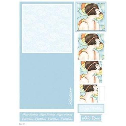Die Cut Decoupage Female Concept Cards 4 (LINE911)