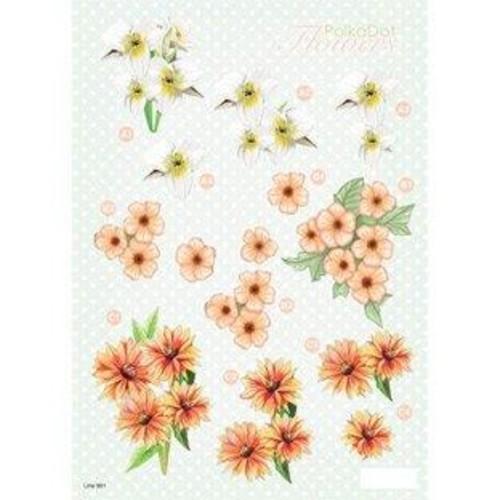 Polka Dot Flowers 3D Decoupage (LINE991)