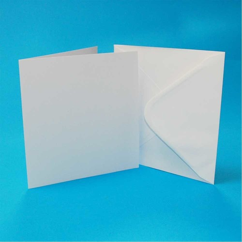 Cards & Envelopes 3 x 3 Inch White 50 Pack (LINE994)