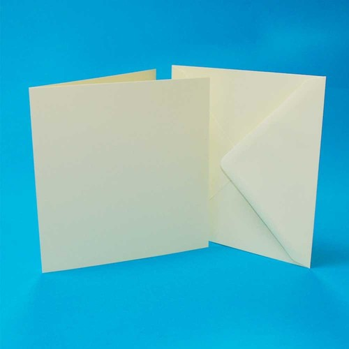 Cards & Envelopes 4 x 4 Inch Ivory 50 Pack (LINE997)