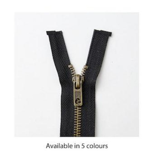 Brass Open End 61cm (24 Inch) Zip Fasteners (M6024)(Green)