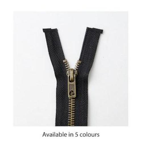 Brass Open End 61cm (24 Inch) Zip Fasteners (M6024)(Navy)