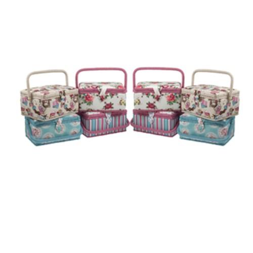 Mixed Pattern Sewing Baskets Medium (MEGAB)
